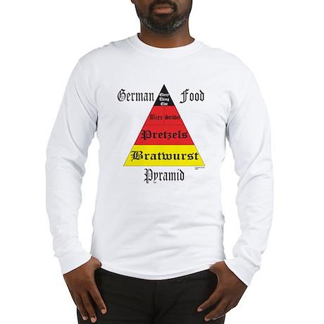 German Food Pyramid Long Sleeve T-Shirt