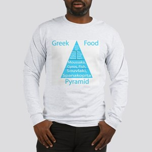Greek Food Pyramid Long Sleeve T-Shirt