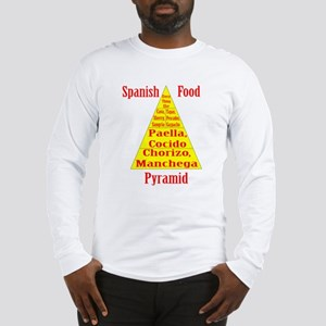 Spanish Food Pyramid Long Sleeve T-Shirt