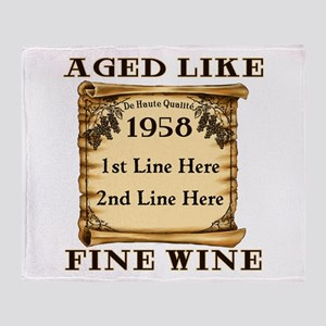 Fine Wine 1958 Throw Blanket
