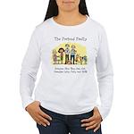 Women's Long Sleeve T-ShirtPretendFrntTurtleArfbk