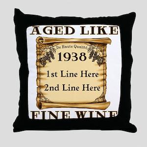 Fine Wine 1938 Throw Pillow
