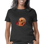 Skull and Red Rose Women's Classic T-Shirt