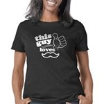 Guy Loves Mustache Women's Classic T-Shirt