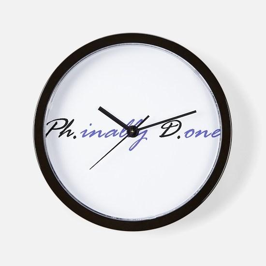 Unique Phd Wall Clock