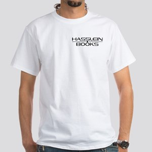 Hasslein Books 2-sided White T-Shirt