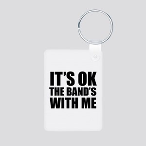 The band's with me Aluminum Photo Keychain
