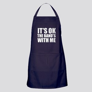 The band's with me Apron (dark)
