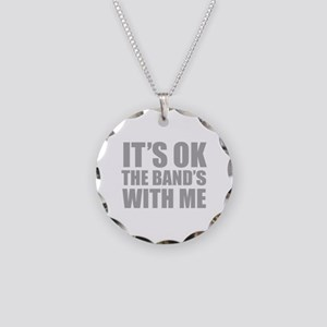 The band's with me Necklace Circle Charm