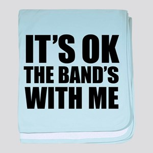 The band's with me baby blanket