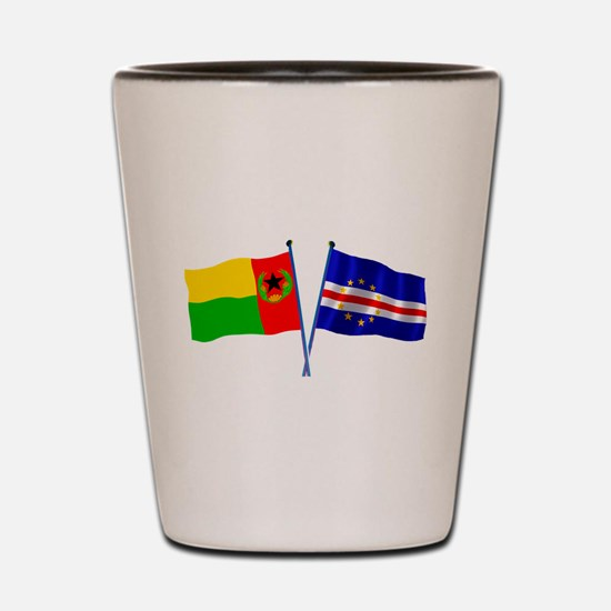 Cape Verde Flags Shot Glass