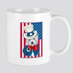 Uncle Sam Westie Mug