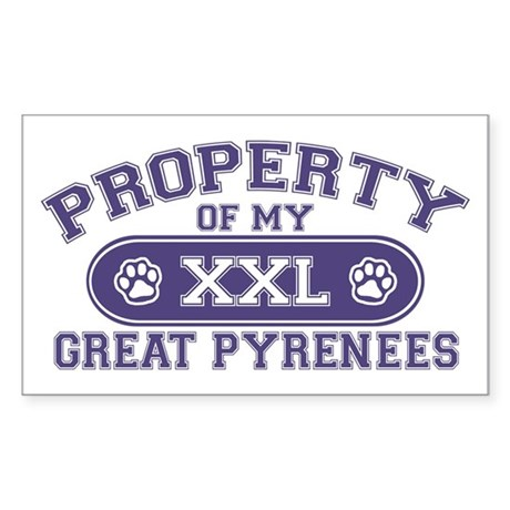 Great Pyr PROPERTY Sticker (Rectangle)