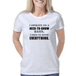 Need to Know (black) Women's Classic T-Shirt