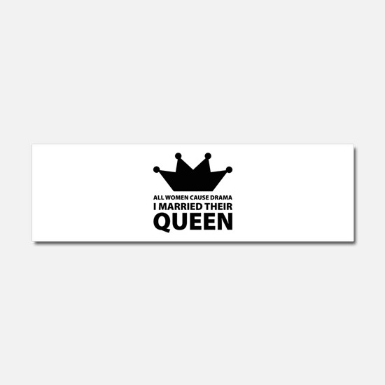 Drama Queen Car Magnet 10 x 3