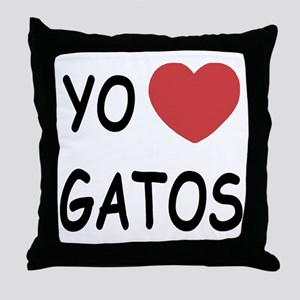 Yo amo gatos Throw Pillow