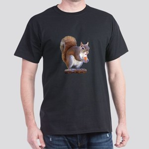 Squirrel on Log Dark T-Shirt