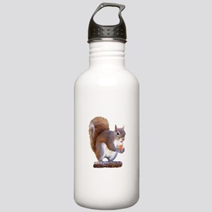 Squirrel on Log Stainless Water Bottle 1.0L