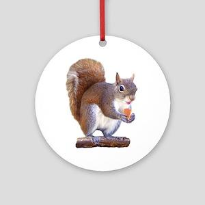 Squirrel on Log Ornament (Round)