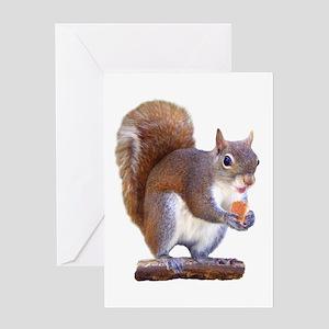 Squirrel on Log Greeting Card