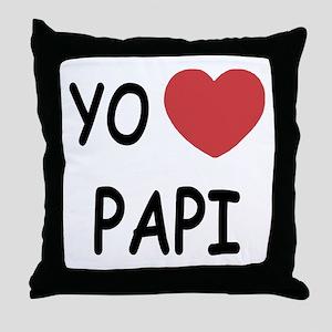 Yo amo papi Throw Pillow