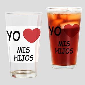 Yo amo mis hijos Drinking Glass