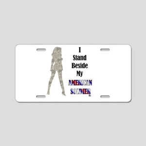 American Soldier Aluminum License Plate