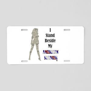 American Soldier Aluminum License Plate