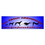 All About Greyhounds Color Sticker (Bumper 10 pk)
