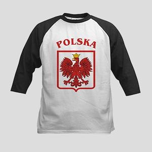 Polish Eagle / Polska Eagle Kids Baseball Jersey