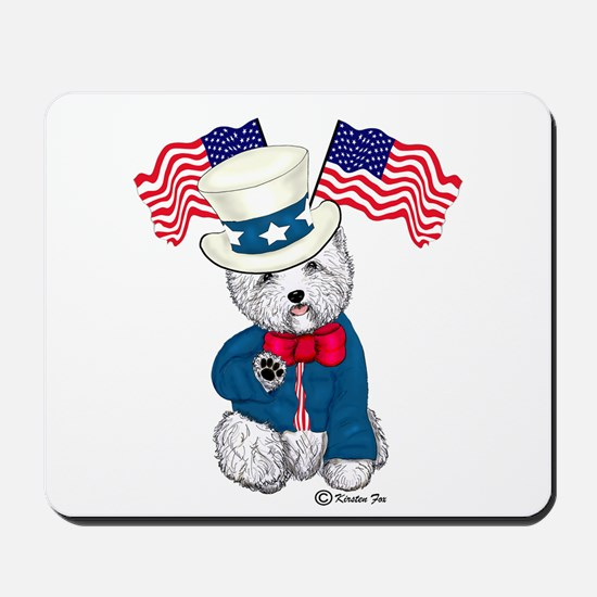 Yankee Doodle Westie Mousepad