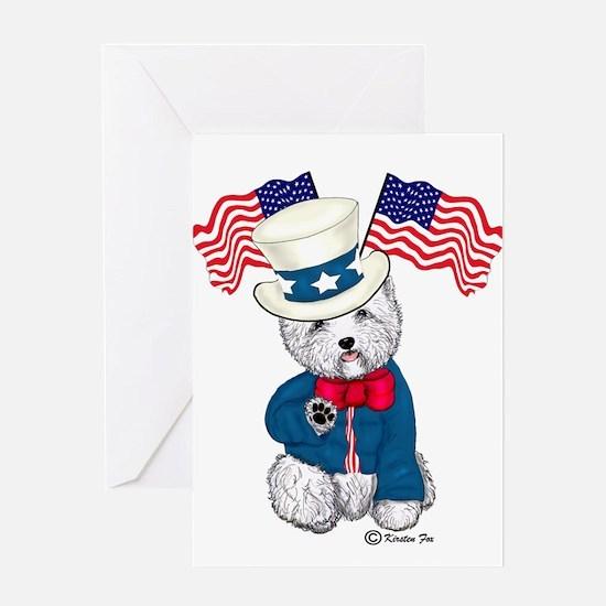 Yankee Doodle Westie Greeting Card