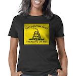gadsden flag updated rect  Women's Classic T-Shirt