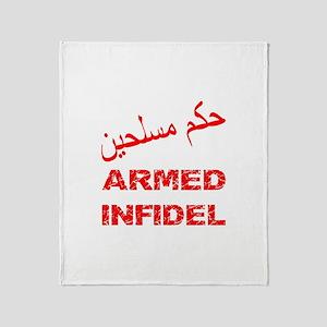 Arabic Armed Infidel Throw Blanket
