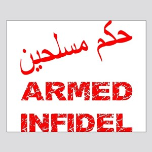 Arabic Armed Infidel Small Poster