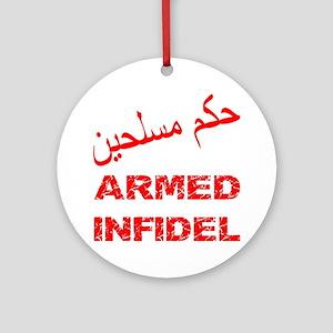 Arabic Armed Infidel Ornament (Round)