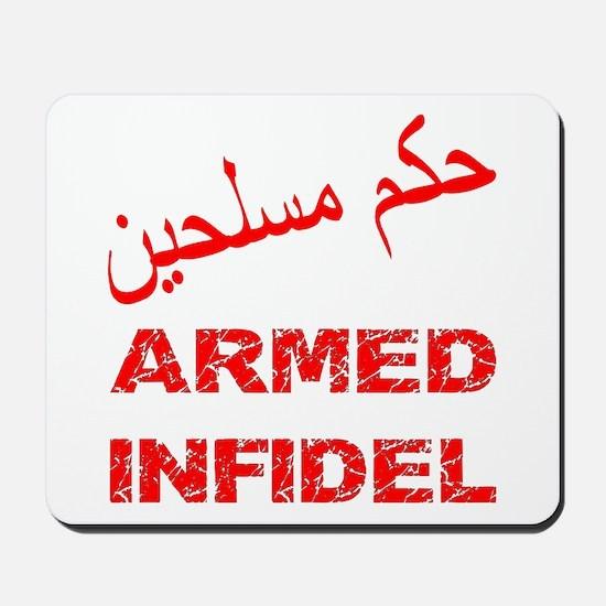 Arabic Armed Infidel Mousepad