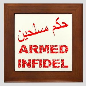 Arabic Armed Infidel Framed Tile