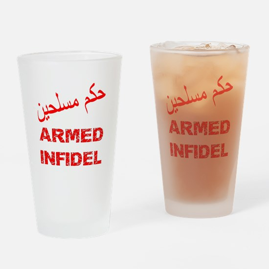 Arabic Armed Infidel Drinking Glass