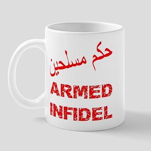 Arabic Armed Infidel Mug