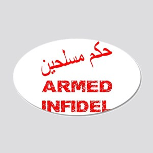 Arabic Armed Infidel 22x14 Oval Wall Peel