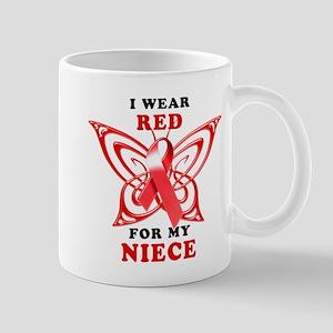 I Wear Red for my Niece Mug