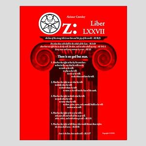 """Liber Oz 16x20"""" Poster - Scarlet"""