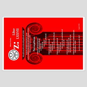 """Liber Oz 23x35"""" Poster - Scarlet"""