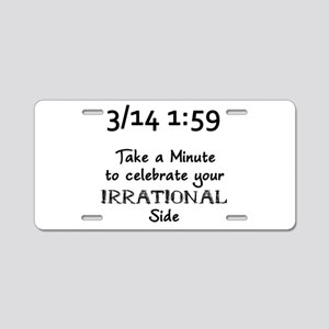 Pi Day Irrational Aluminum License Plate