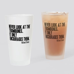 Trombone Quote Drinking Glass