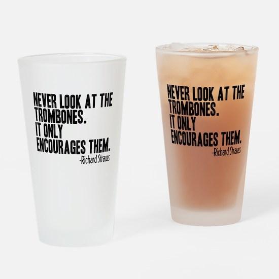 Trombone Quote Drinking Glass