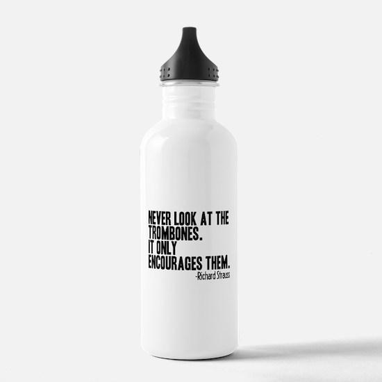 Trombone Quote Water Bottle