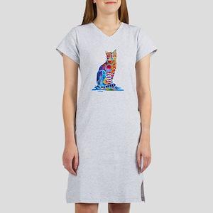 Whimsical Elegant Cat Women's Nightshirt
