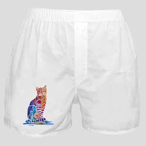 Whimsical Elegant Cat Boxer Shorts